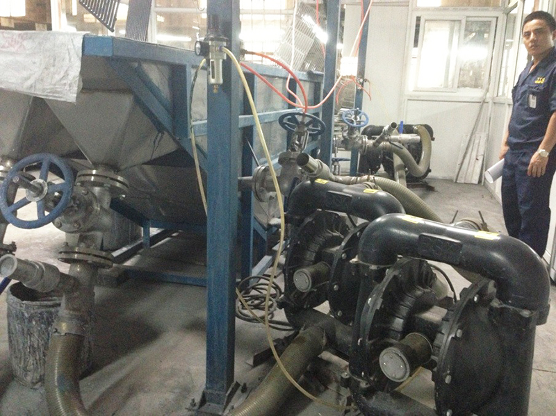 BSK air-operated diaphragm pump of aluminum alloy is applied to the coating lines.