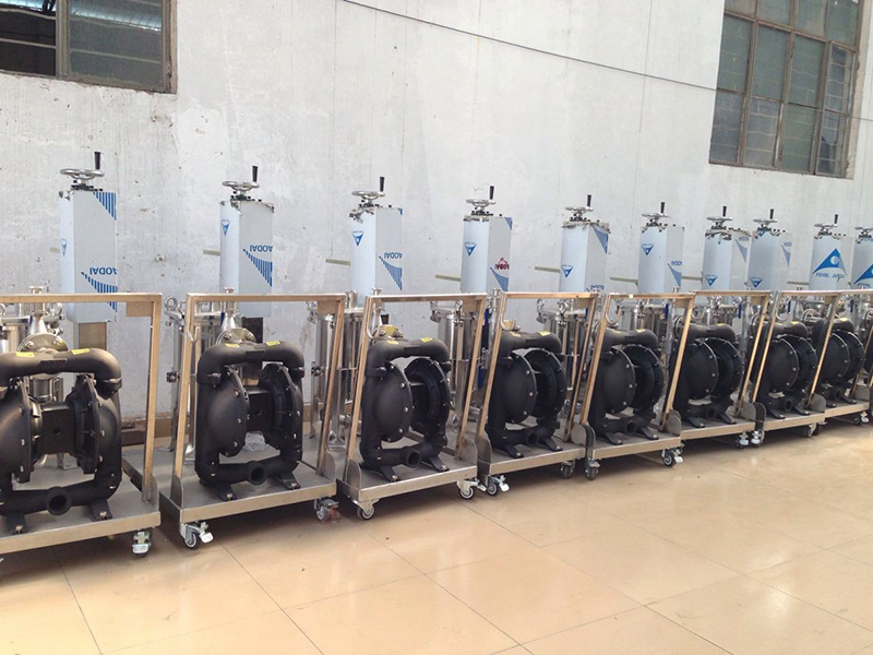 BSK air-operated diaphragm pump of aluminum alloy is applied to the filling machines.