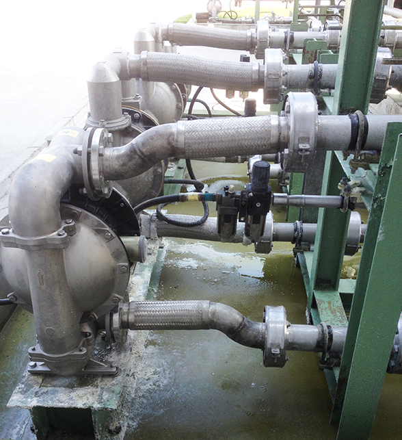 BSK air-operated diaphragm pump of aluminum alloy is applied to the cooling towers.